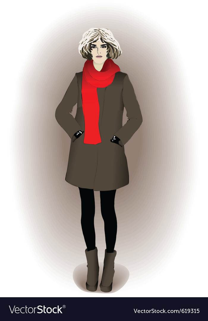 Modern young girl vector | Price: 1 Credit (USD $1)