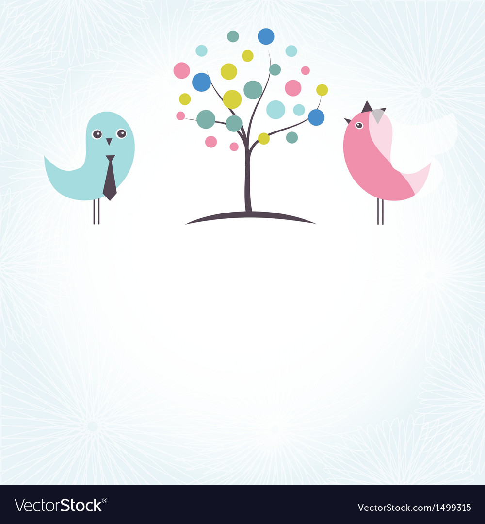 Wedding invitation with two cute swan birds in vector | Price: 1 Credit (USD $1)