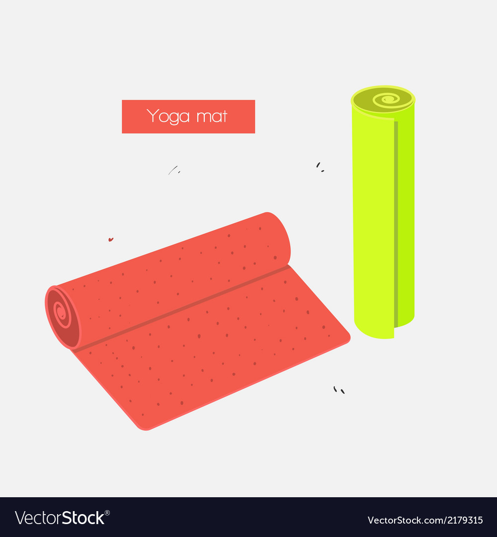 Yoga mat vector | Price: 1 Credit (USD $1)