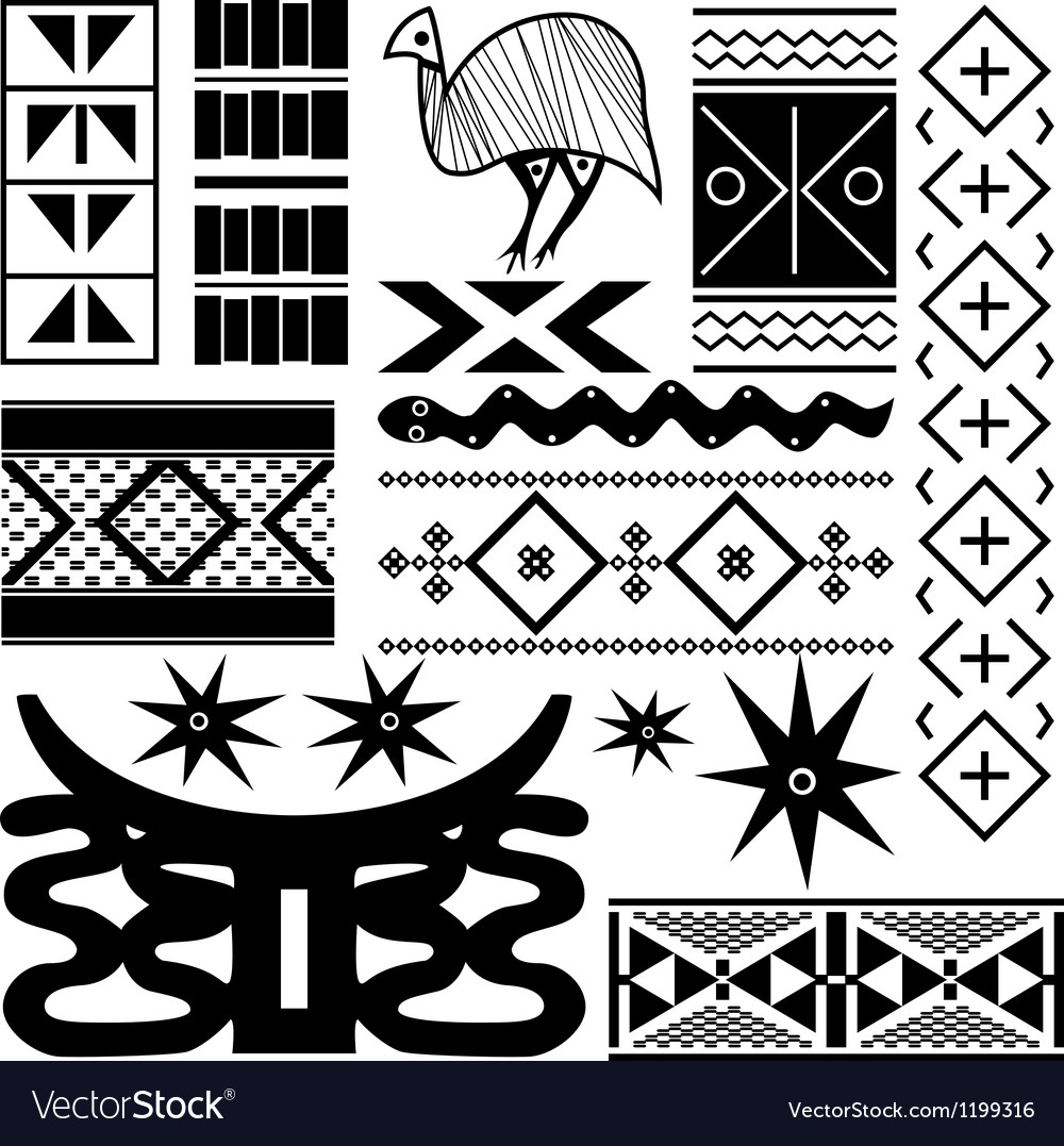 Ancient african pattern vector | Price: 1 Credit (USD $1)