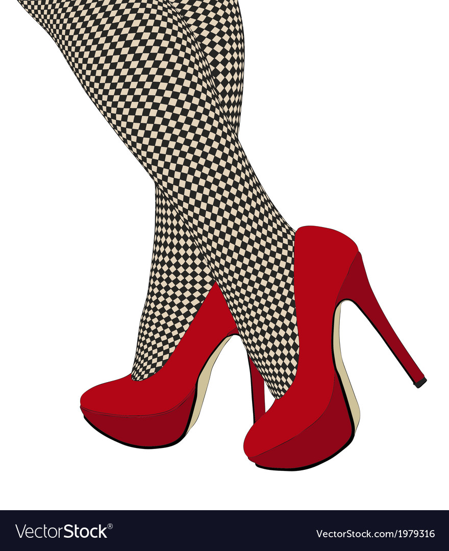 The checkered fishnet stockings vector   Price: 1 Credit (USD $1)