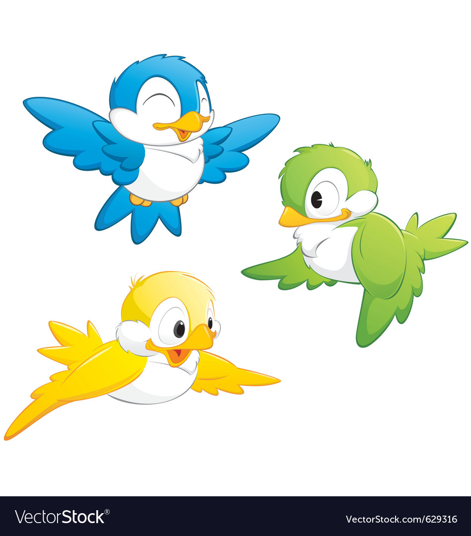 Cute cartoon birds vector | Price: 3 Credit (USD $3)