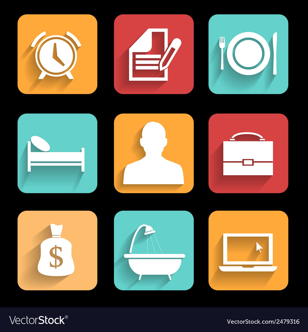 Daily routine vector   Price: 1 Credit (USD $1)