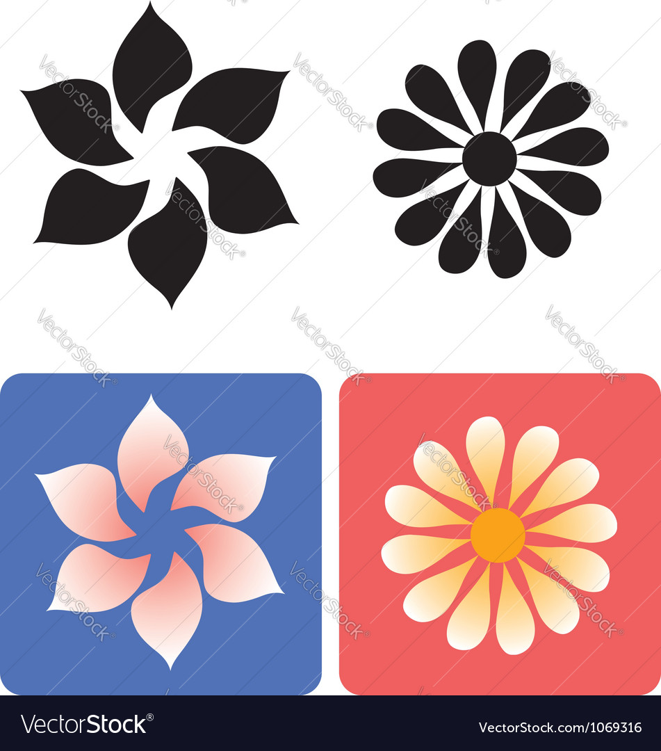 Decorative flowers 1 vector | Price: 1 Credit (USD $1)