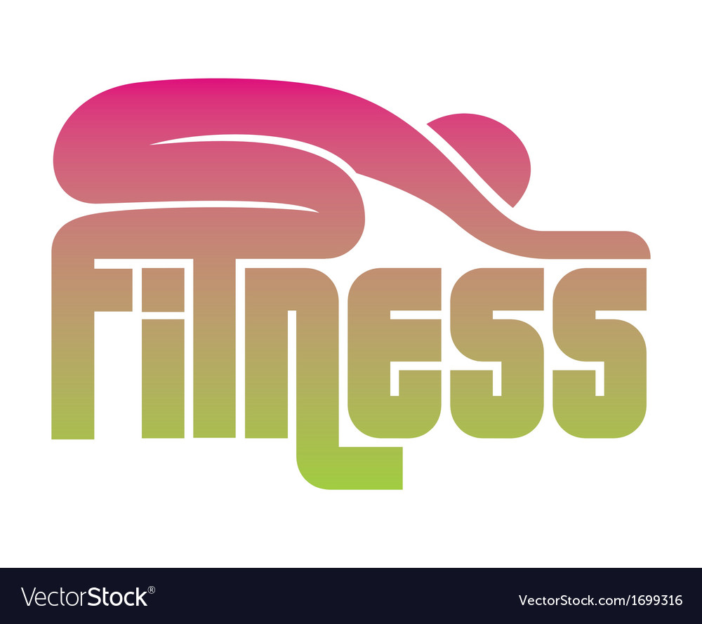 Fitness sign vector | Price: 1 Credit (USD $1)
