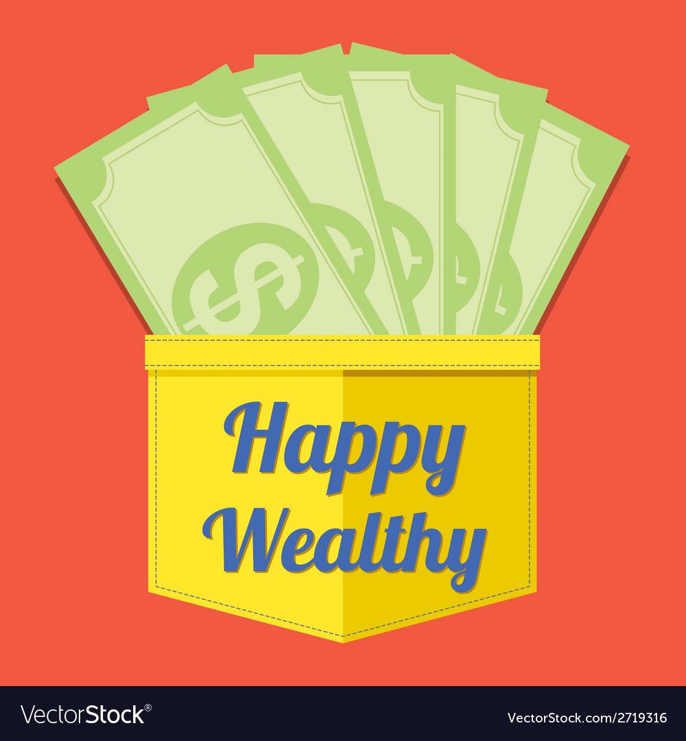 Happy wealthy vector   Price: 1 Credit (USD $1)