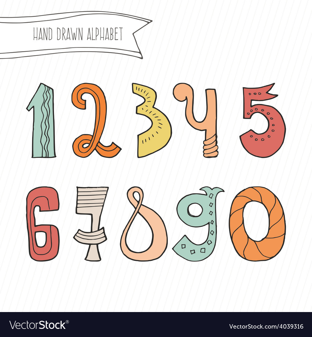 Numbers vector | Price: 1 Credit (USD $1)
