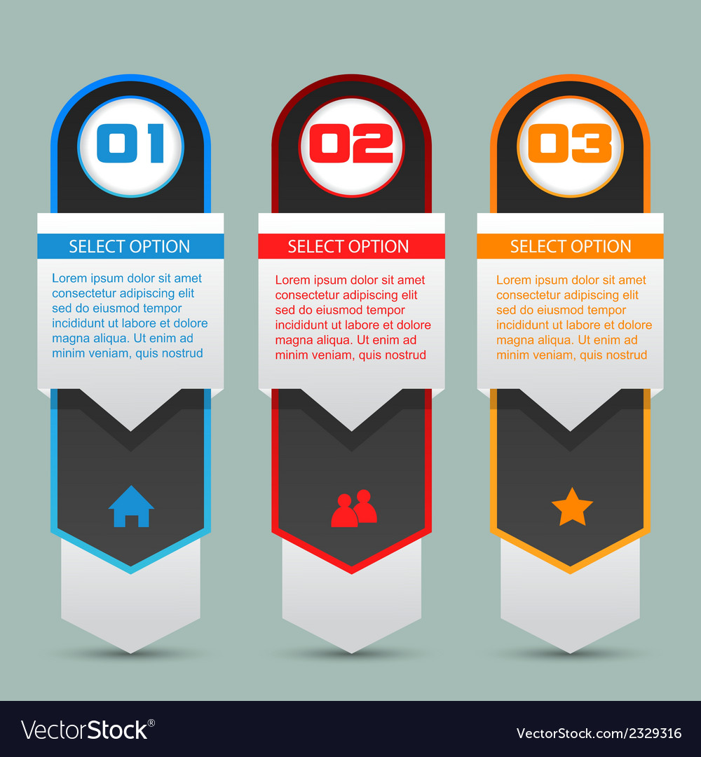 Option banners vector | Price: 1 Credit (USD $1)