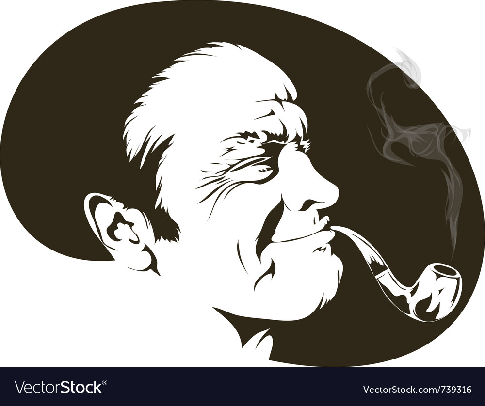 Pipe smoker vector | Price: 1 Credit (USD $1)