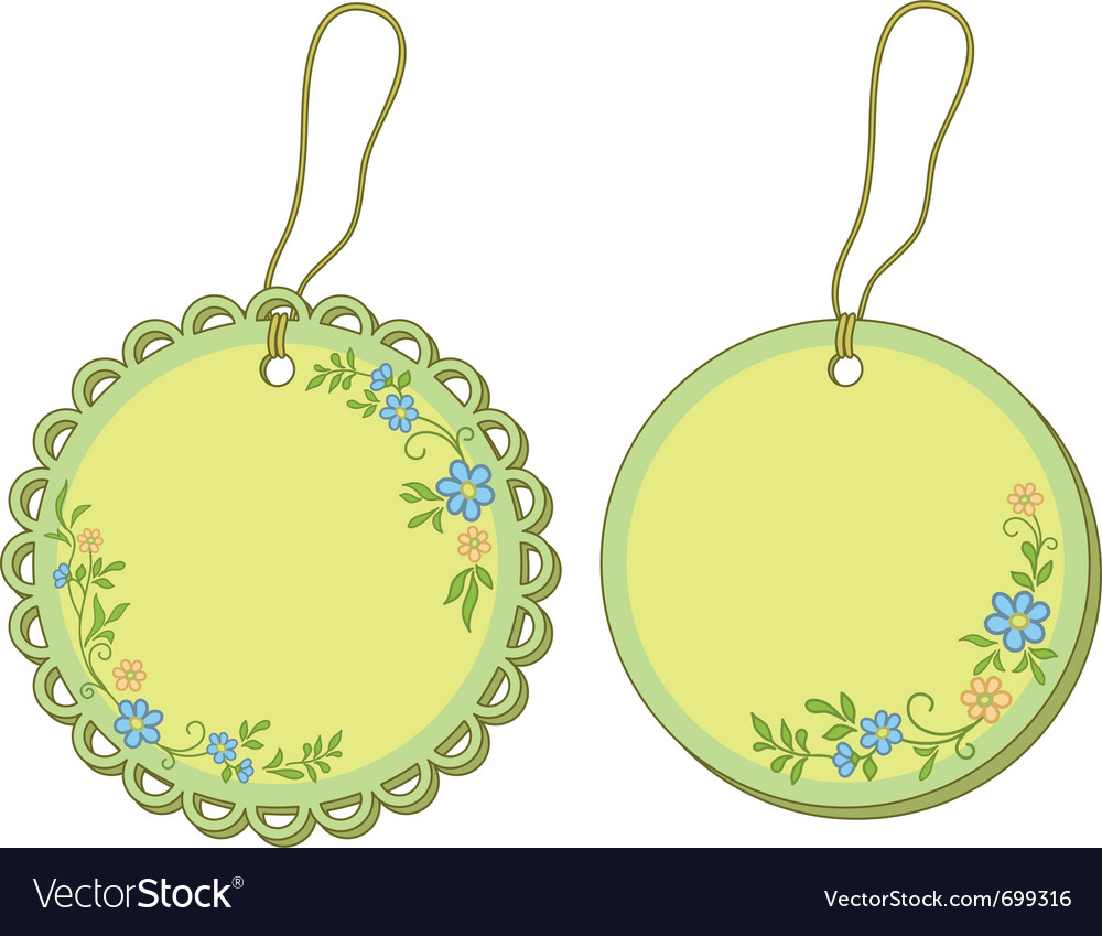 Tags with floral pattern vector   Price: 1 Credit (USD $1)