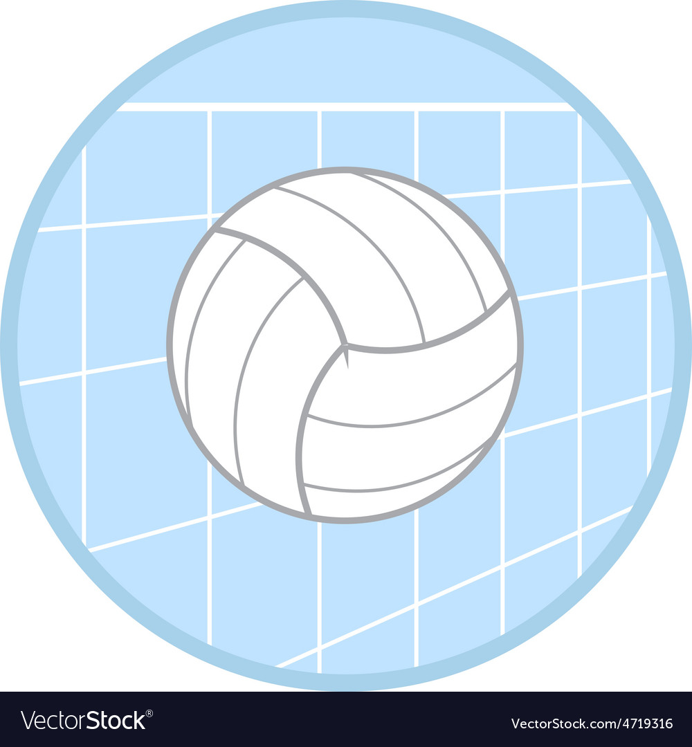Volleyball icon vector   Price: 1 Credit (USD $1)