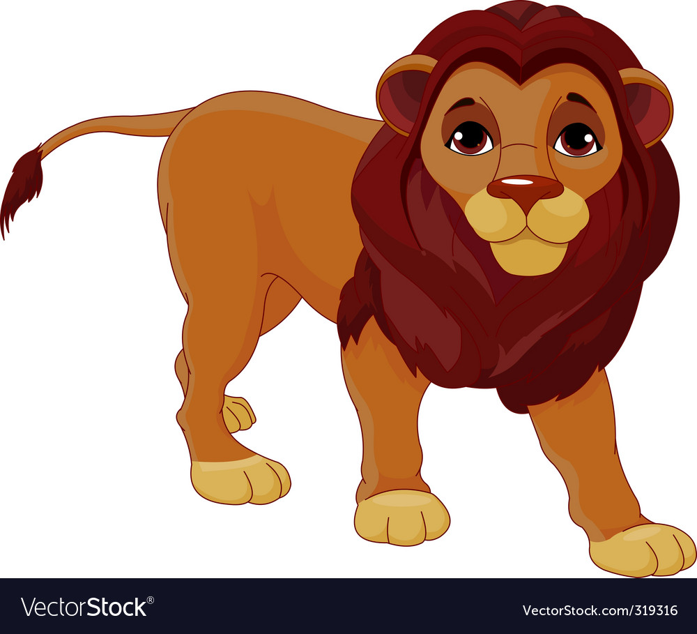 Walking lion vector | Price: 3 Credit (USD $3)