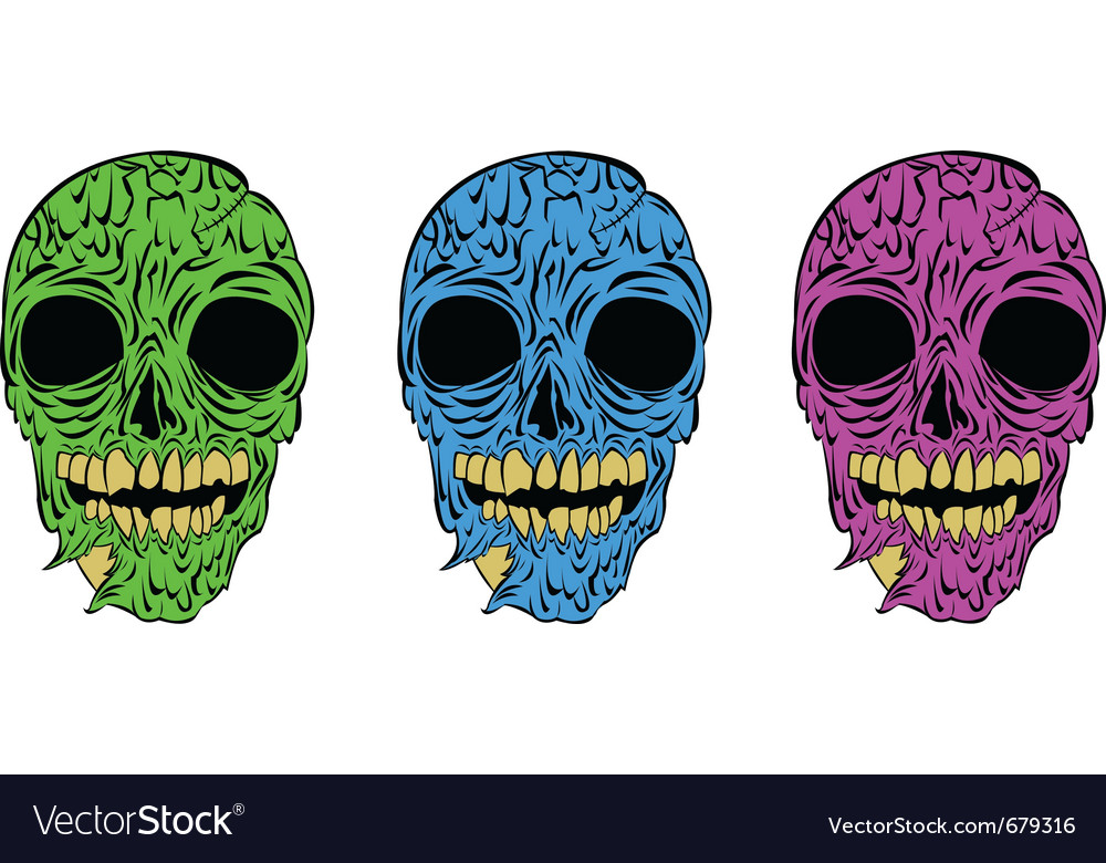 Zombies in neon vector | Price: 1 Credit (USD $1)