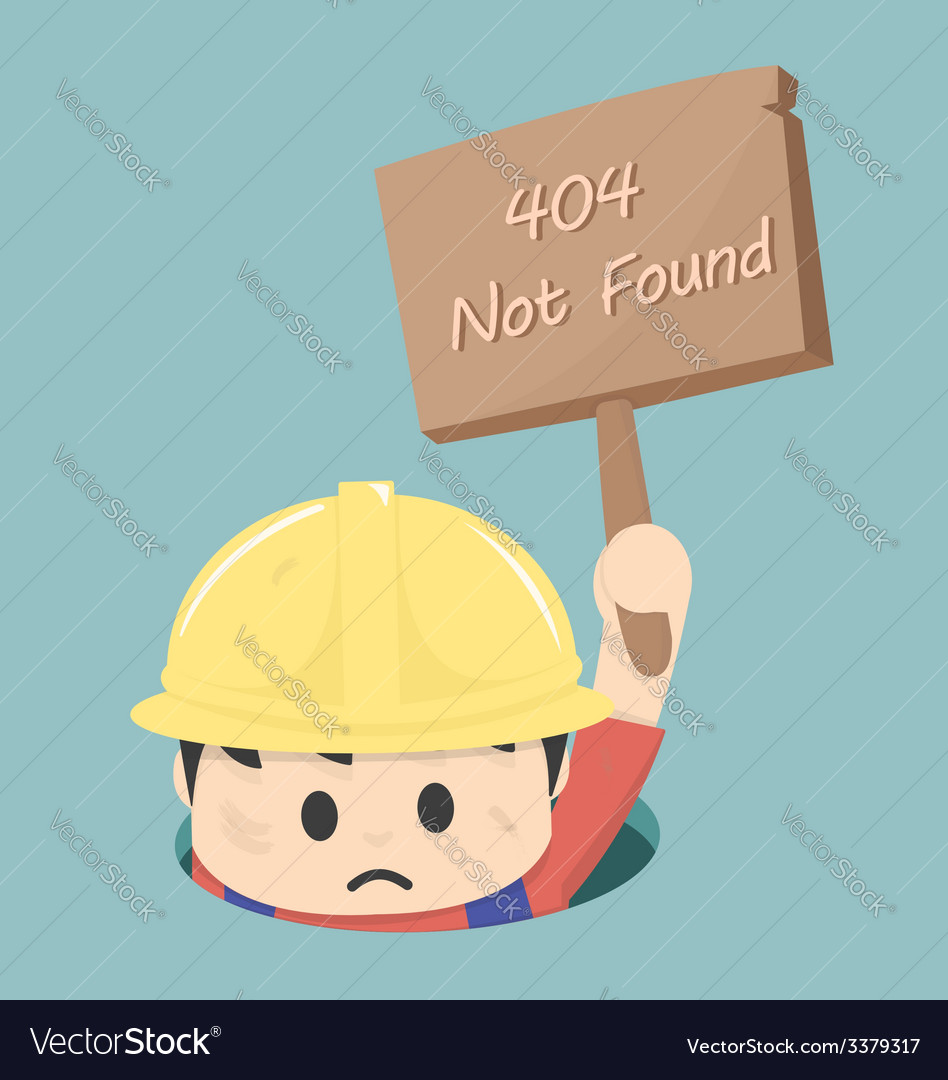 404 not found vector | Price: 1 Credit (USD $1)