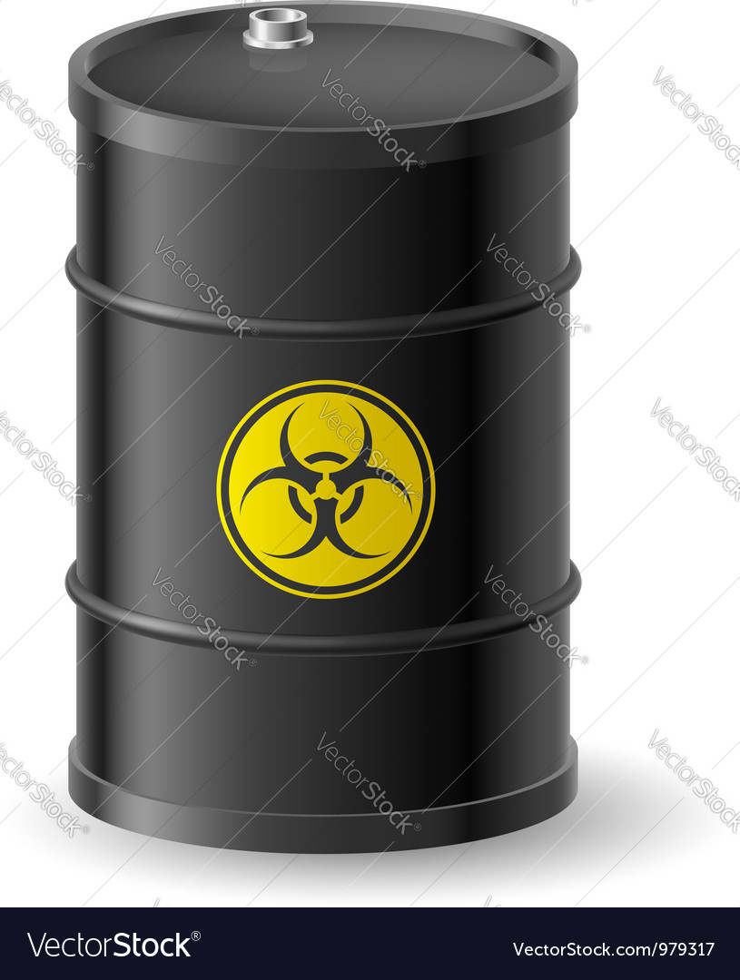 Biohazard barrel vector | Price: 1 Credit (USD $1)
