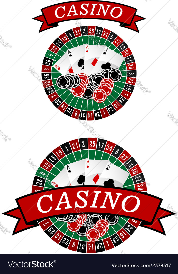 Casino roulette with gambling elements vector | Price: 1 Credit (USD $1)
