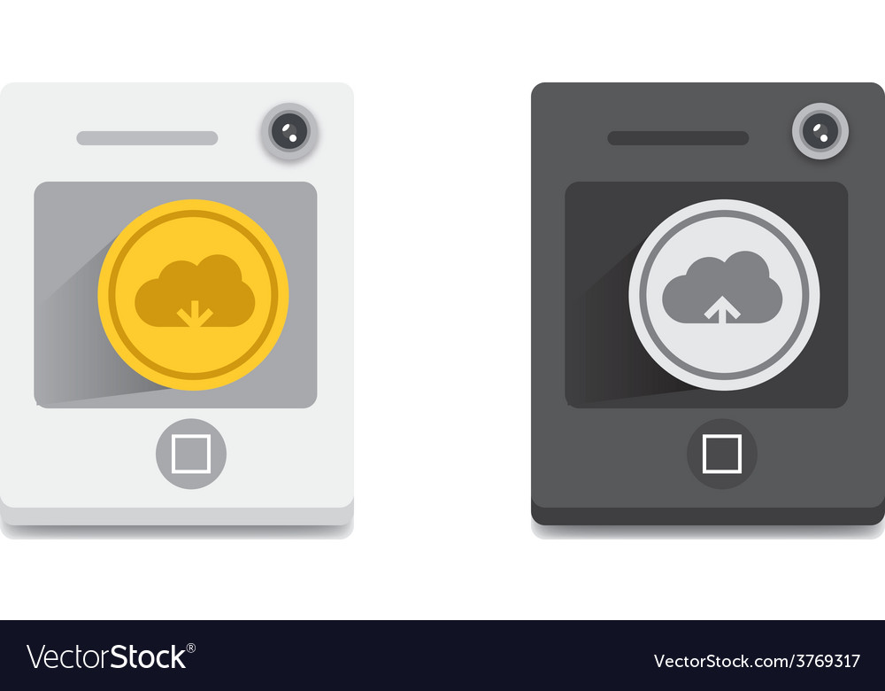 Cloud download and upload icon 32 vector | Price: 1 Credit (USD $1)