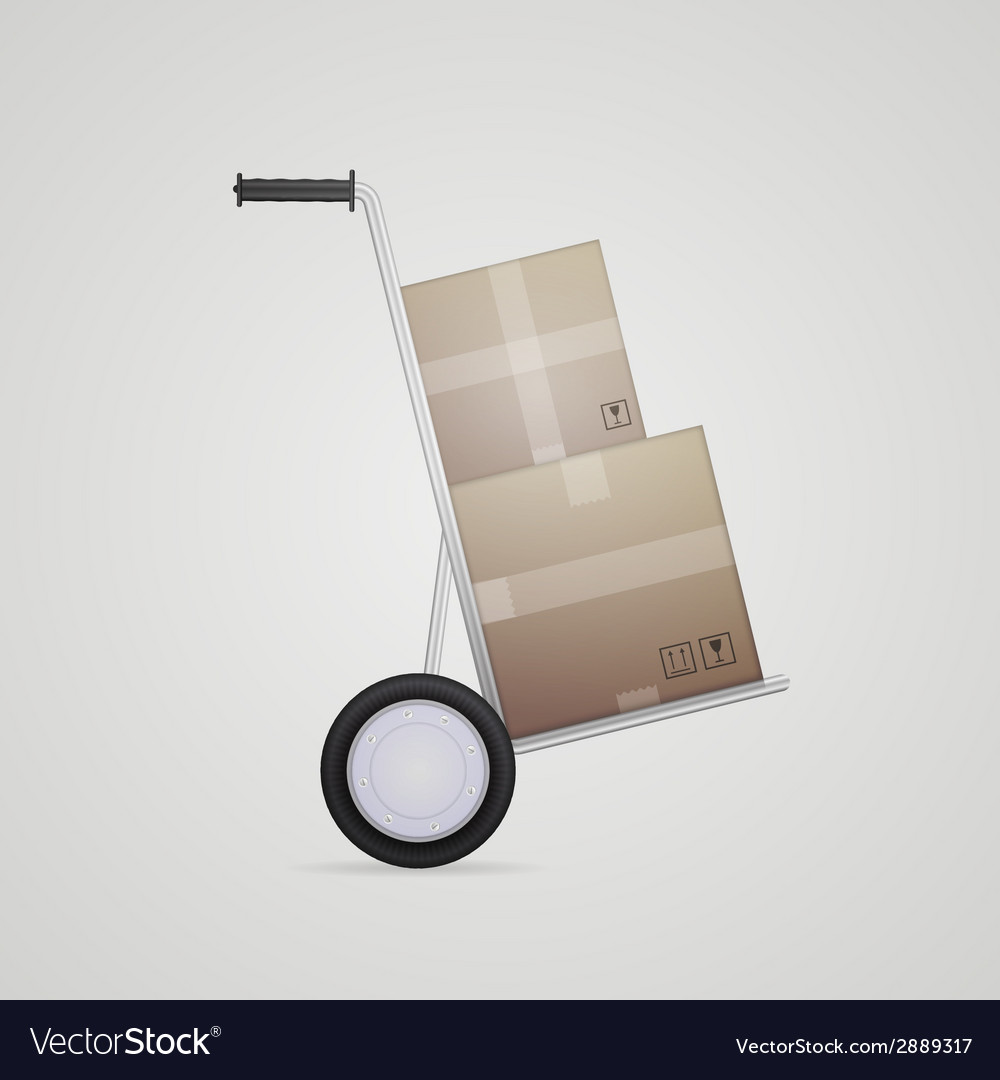 Delivery hand truck vector | Price: 1 Credit (USD $1)