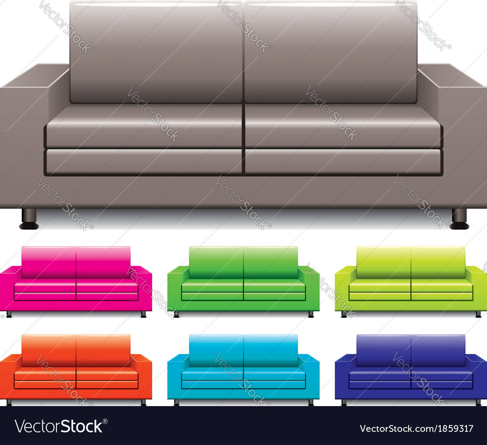 Set of sofas vector   Price: 1 Credit (USD $1)