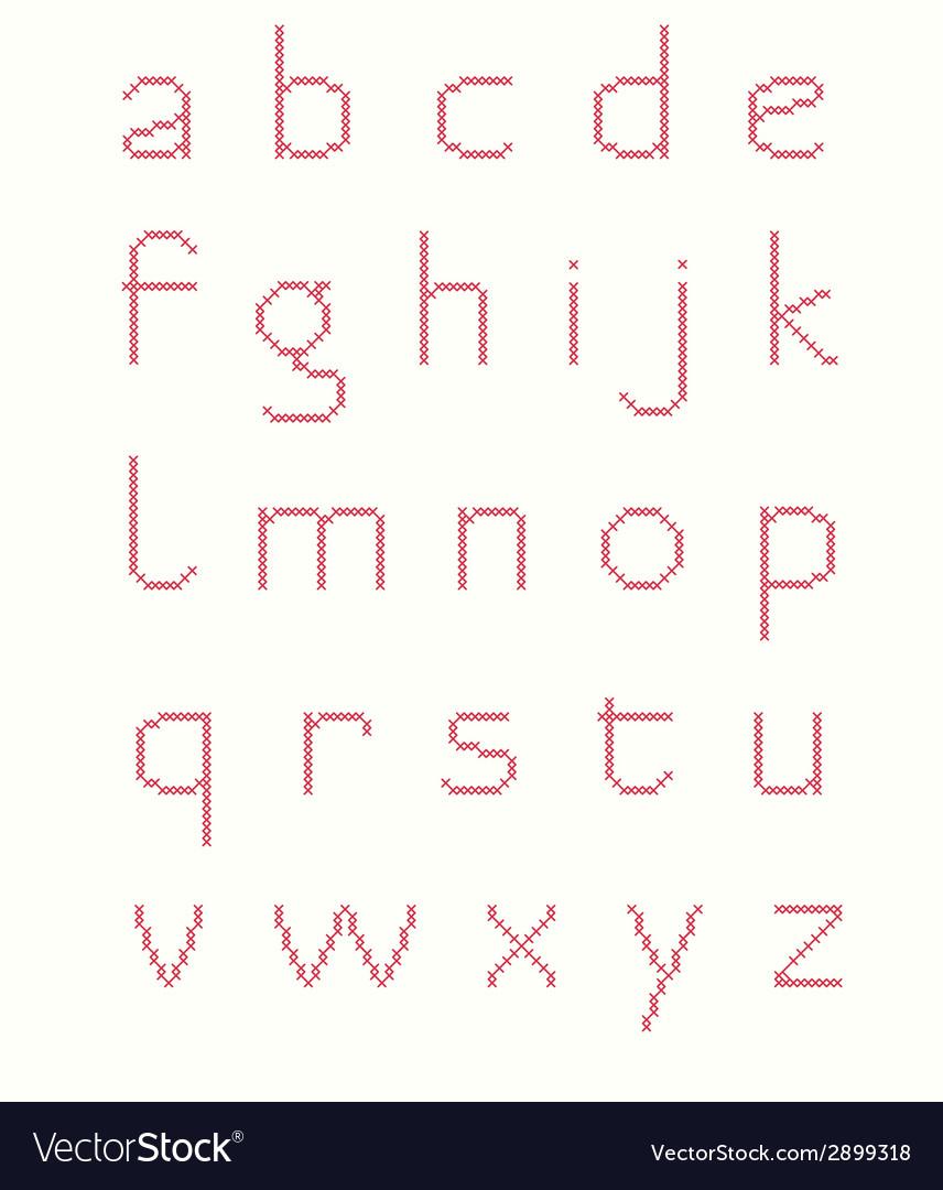 Cross stitch alphabet vector | Price: 1 Credit (USD $1)