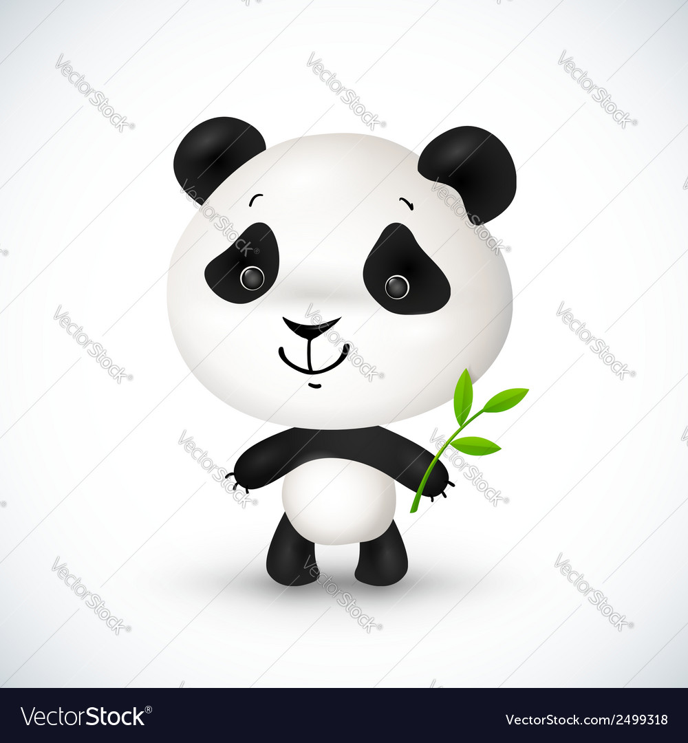 Cute little panda vector | Price: 1 Credit (USD $1)