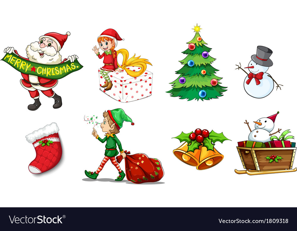 Designs showing the spirit of christmas vector | Price: 1 Credit (USD $1)