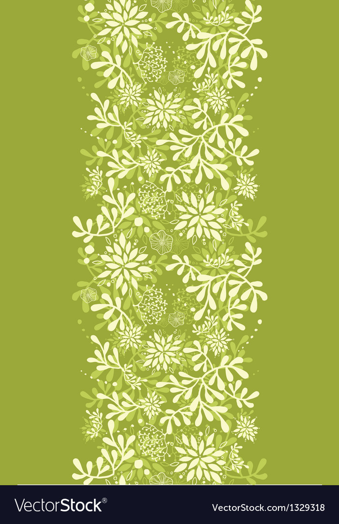 Green underwater plants vertical seamless pattern vector | Price: 1 Credit (USD $1)