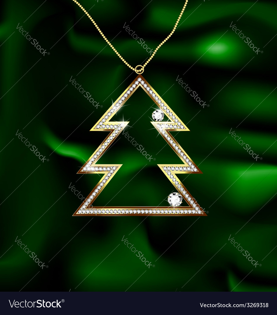 Jewel christmas tree vector | Price: 1 Credit (USD $1)