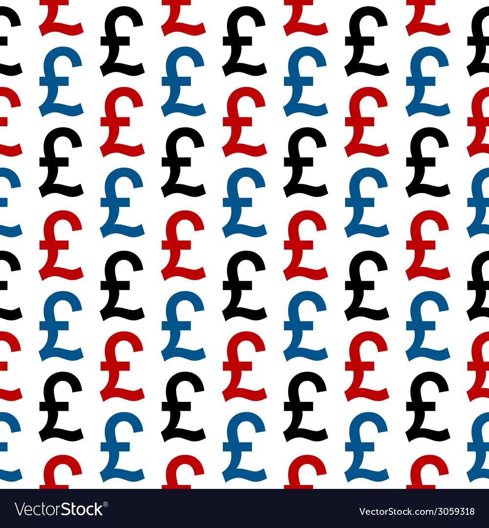 Pound symbol seamless pattern vector | Price: 1 Credit (USD $1)