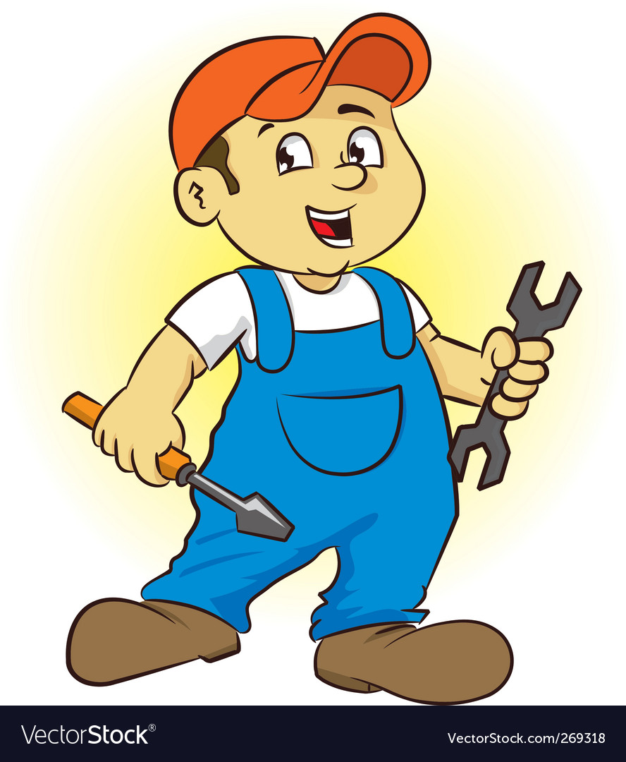 Repairman vector | Price: 1 Credit (USD $1)