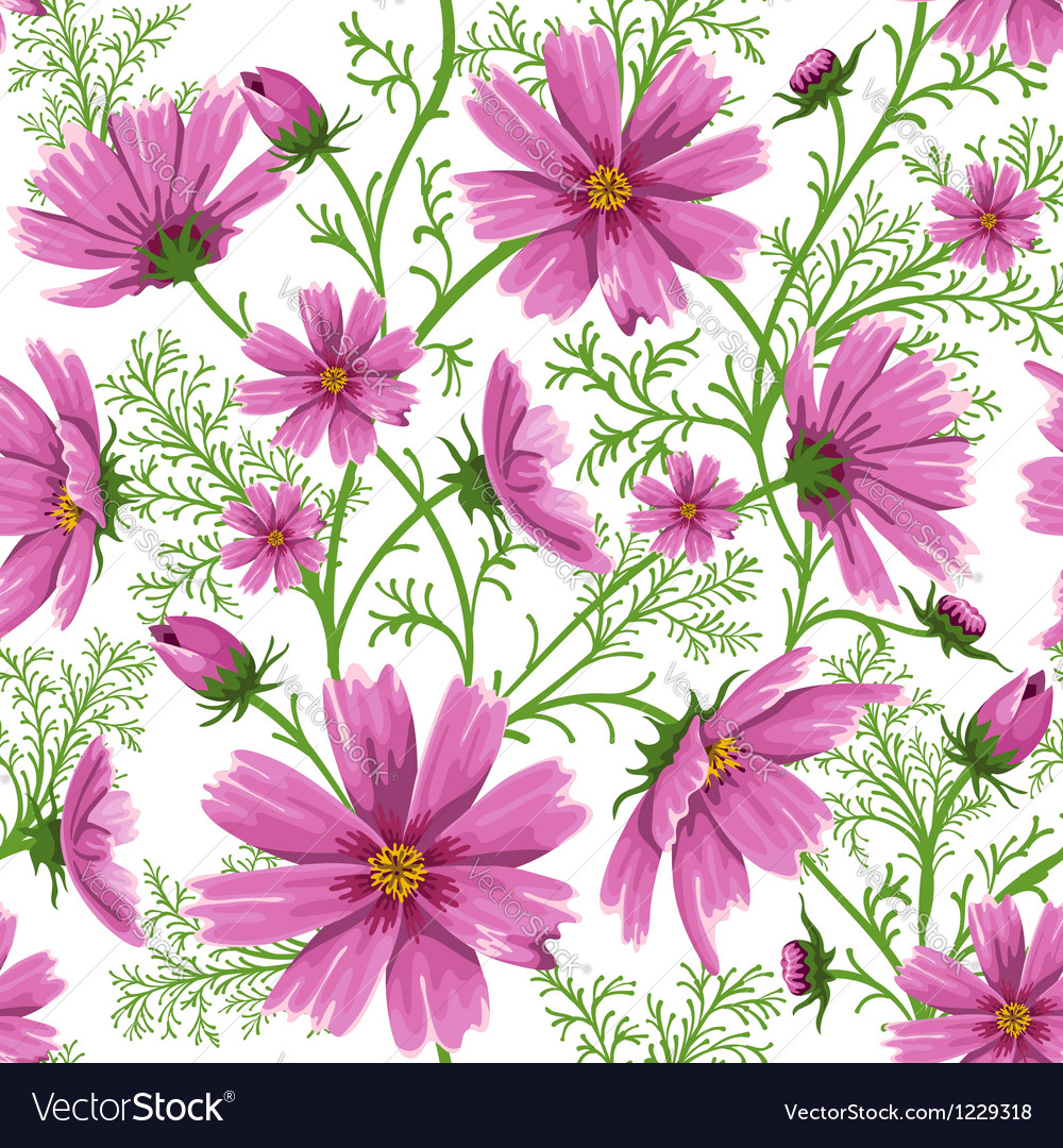 Seamless floral background vector | Price: 3 Credit (USD $3)