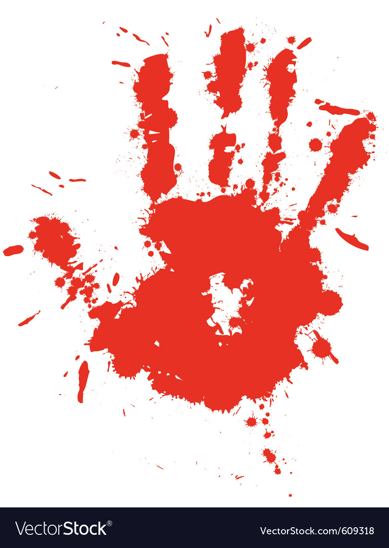 Splatter hand print vector | Price: 1 Credit (USD $1)