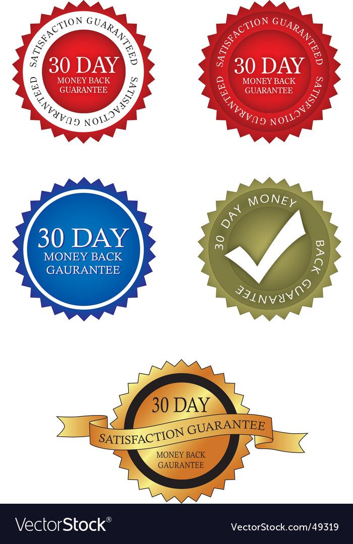 30 day money back guarantee vector   Price: 1 Credit (USD $1)