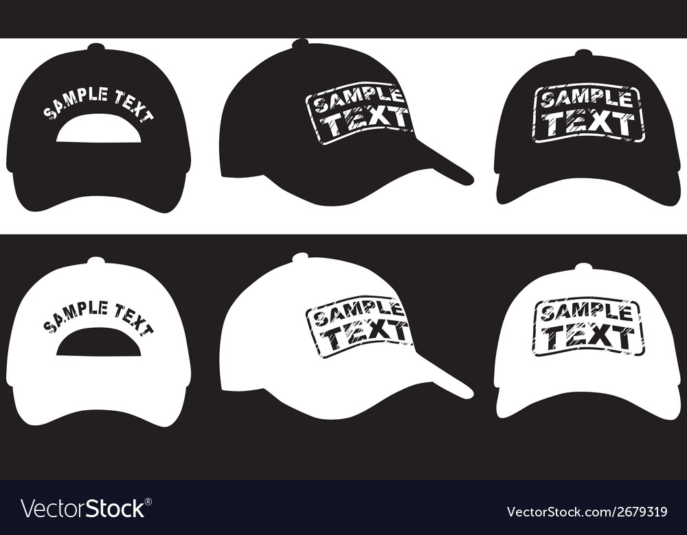 Baseball cap front back and side view vector | Price: 1 Credit (USD $1)