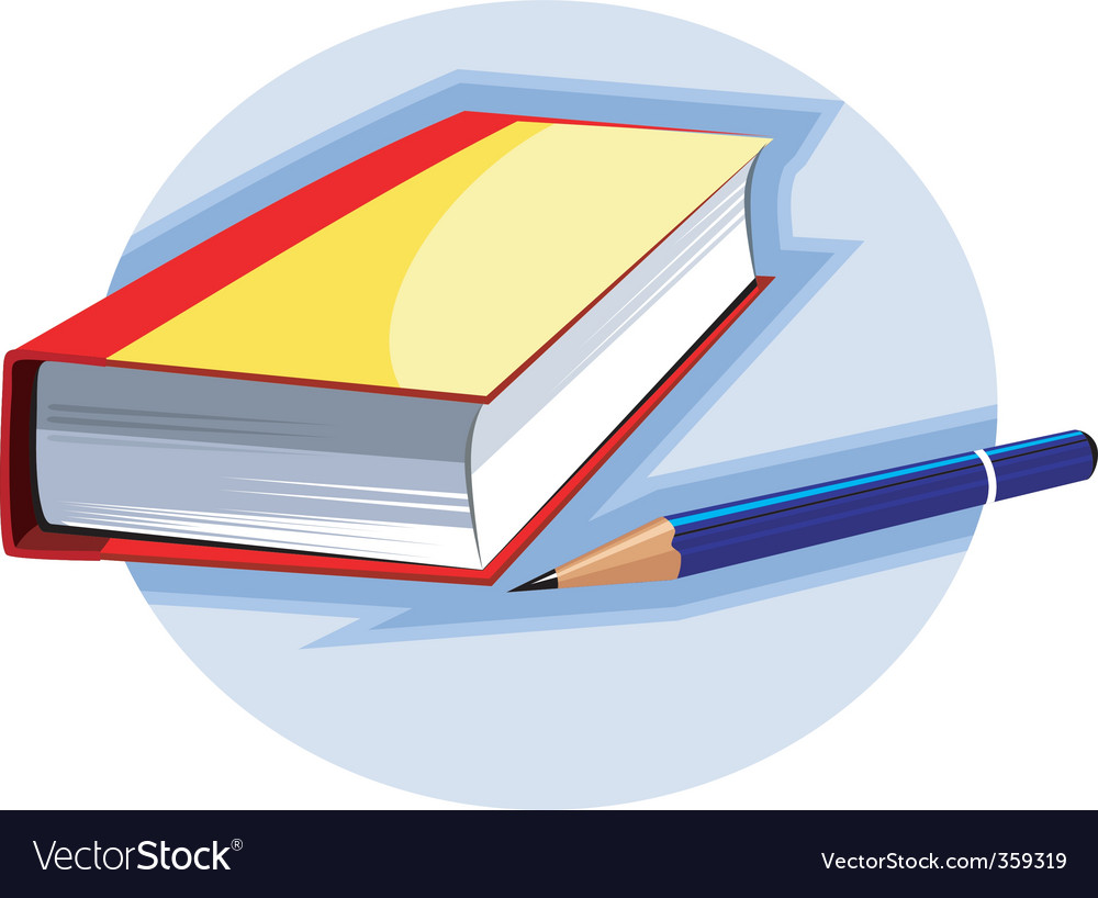 Book and pencil vector | Price: 1 Credit (USD $1)