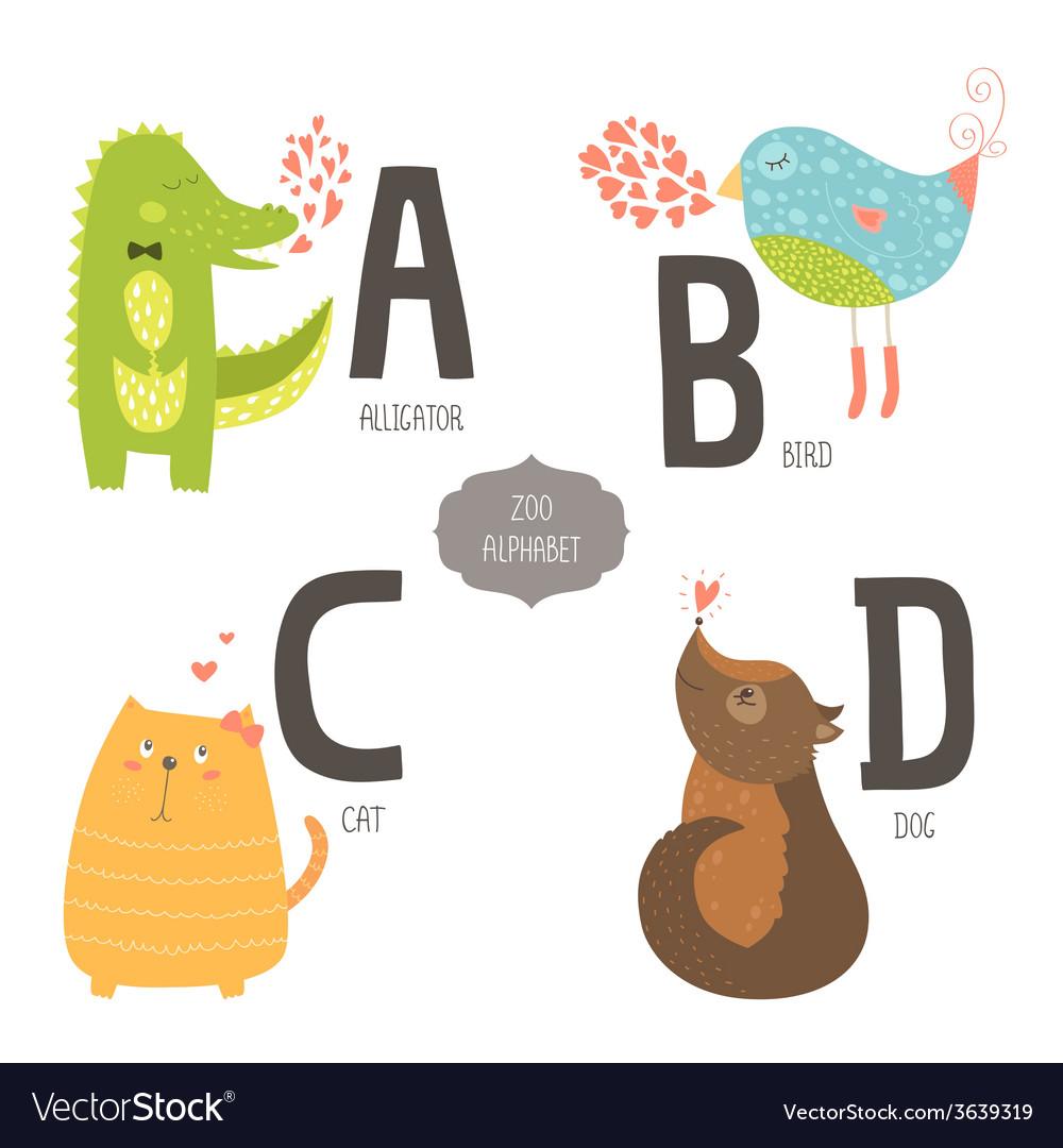 Cute zoo alphabet vector | Price: 1 Credit (USD $1)