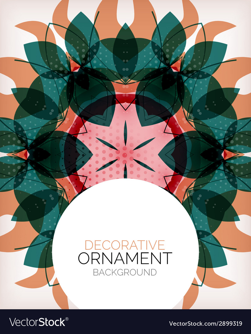 Decorative retro ornaments background vector | Price: 1 Credit (USD $1)