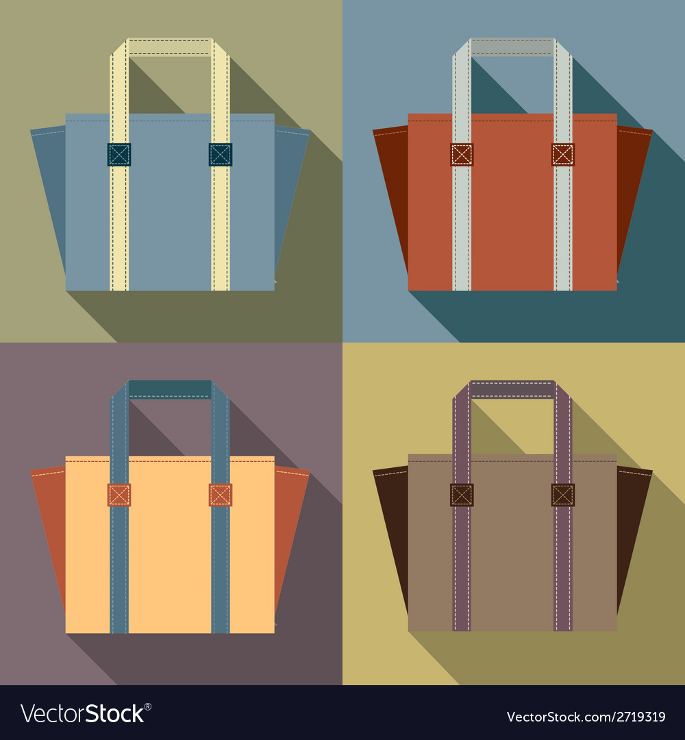 Flat design tote bags vector | Price: 1 Credit (USD $1)