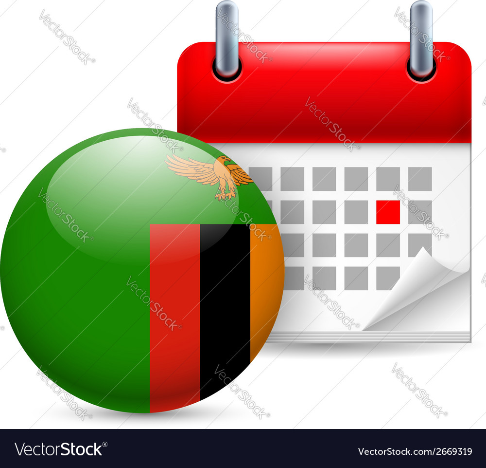 Icon of national day in zambia vector | Price: 1 Credit (USD $1)