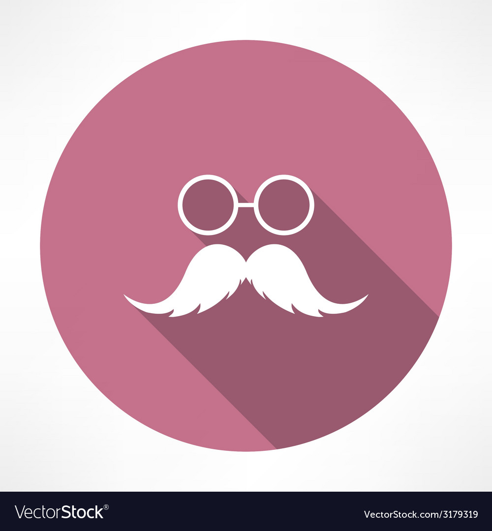 Mustache and glasses icon vector | Price: 1 Credit (USD $1)