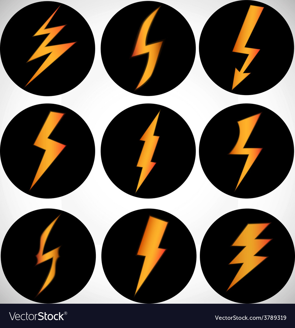 Sign of lightning vector | Price: 1 Credit (USD $1)