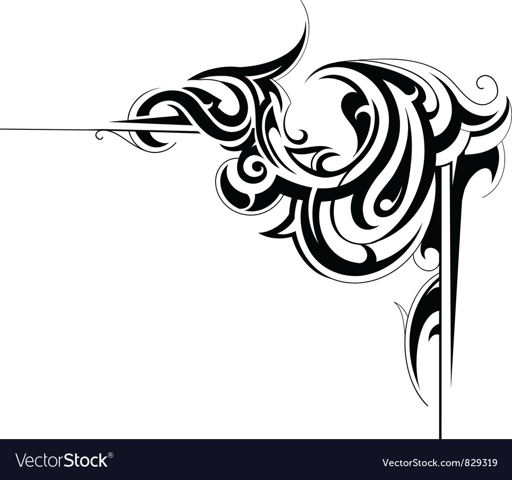 Swirly corner vector | Price: 1 Credit (USD $1)