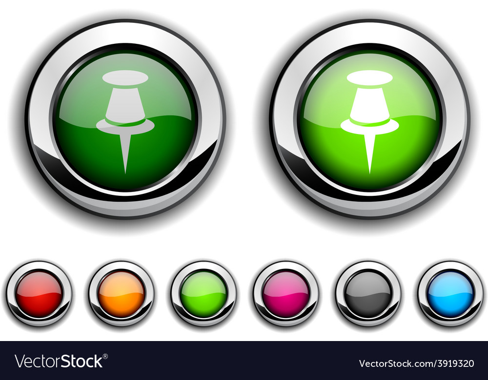 Drawing-pin button vector | Price: 1 Credit (USD $1)
