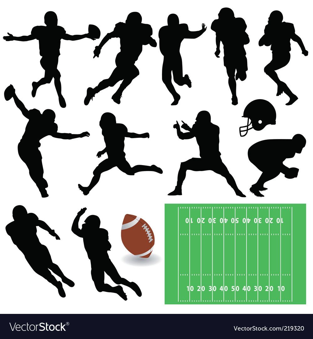 Football players vector | Price: 1 Credit (USD $1)