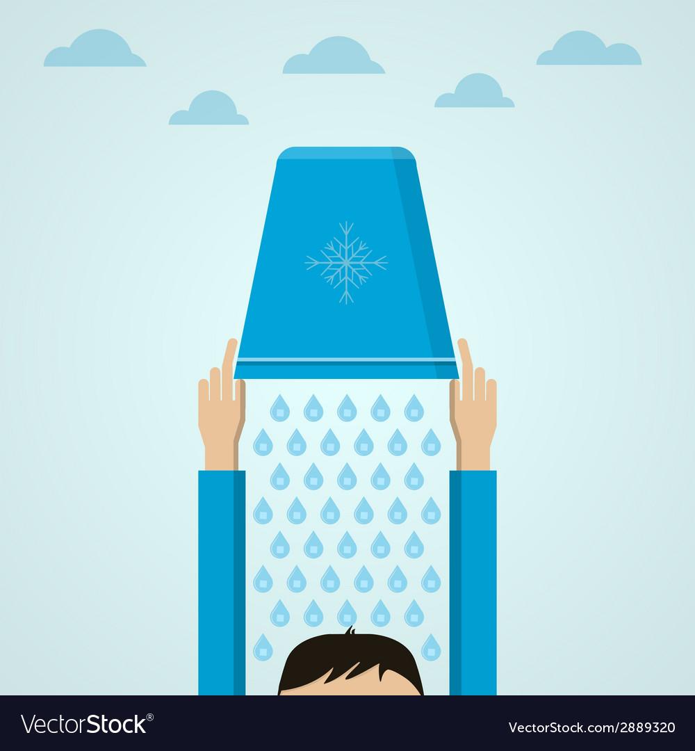Ice bucket challenge flat vector | Price: 1 Credit (USD $1)