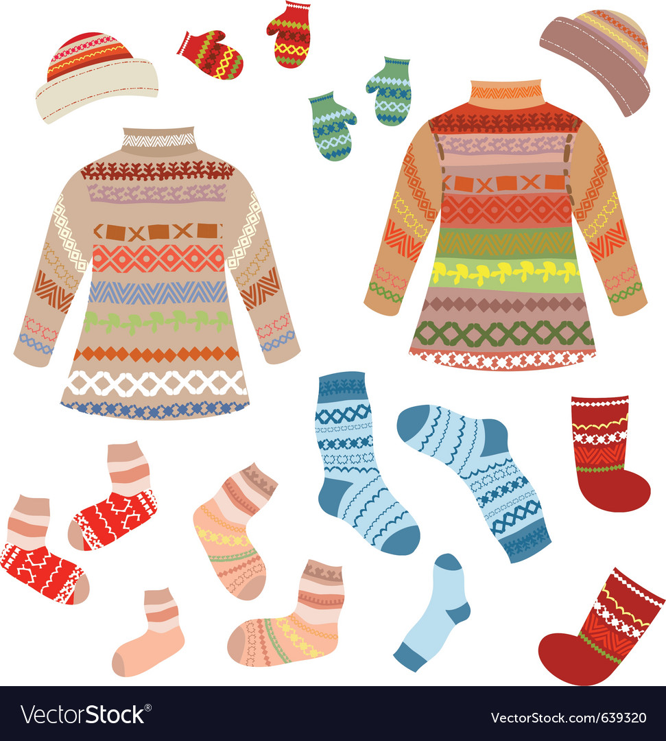 Knitted clothing vector | Price: 1 Credit (USD $1)