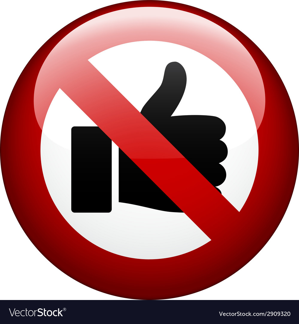 No gesture mark vector | Price: 1 Credit (USD $1)