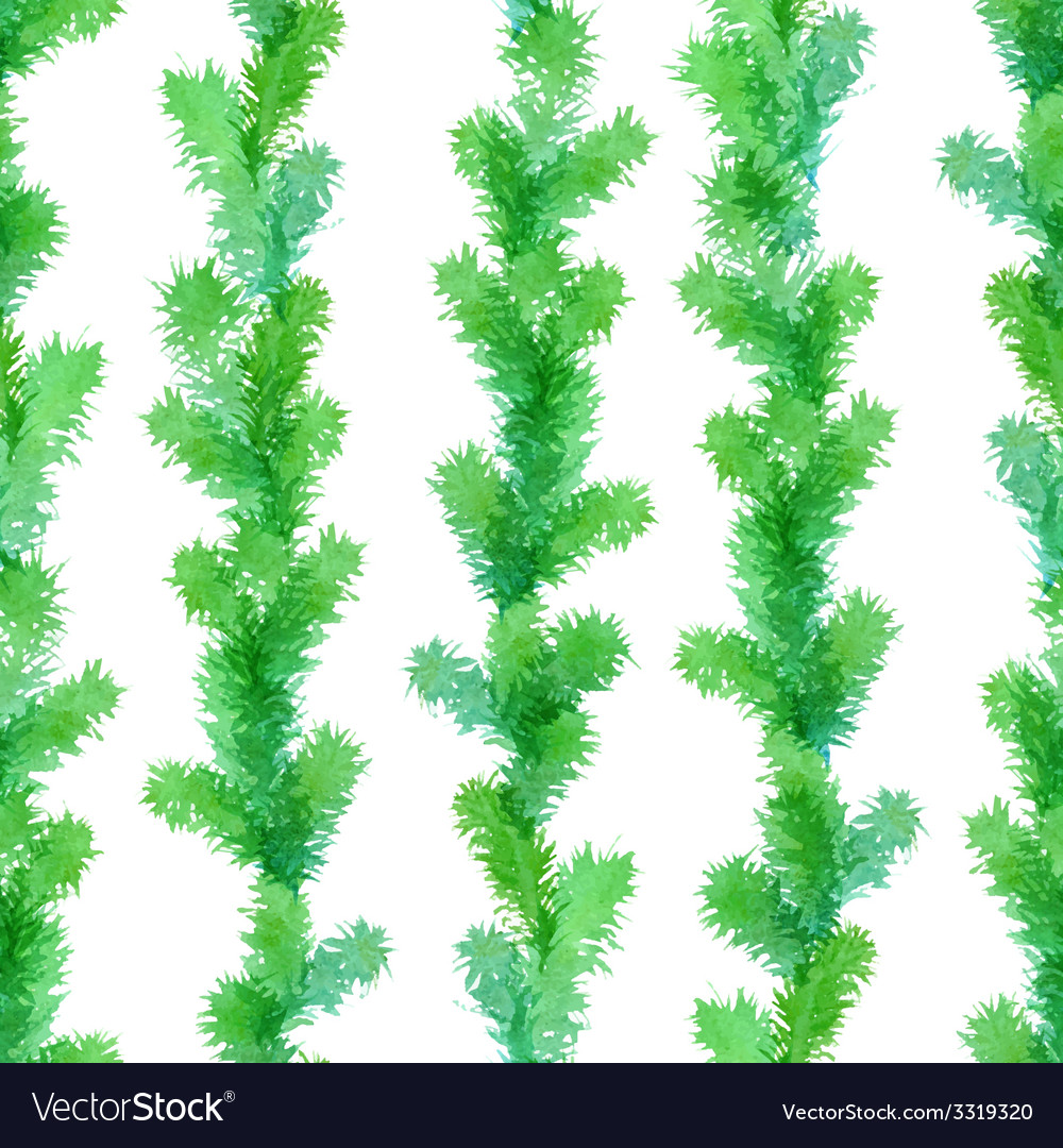 Seamless evergreen pattern vector | Price: 1 Credit (USD $1)