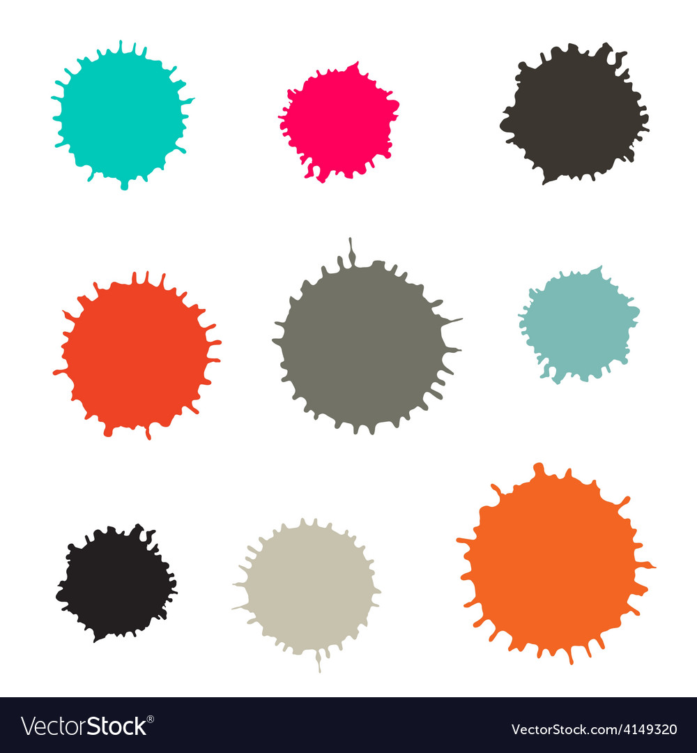 Splashes - blots stains set isolated on white vector | Price: 1 Credit (USD $1)