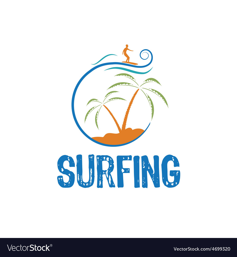 Surfing design template vector | Price: 1 Credit (USD $1)